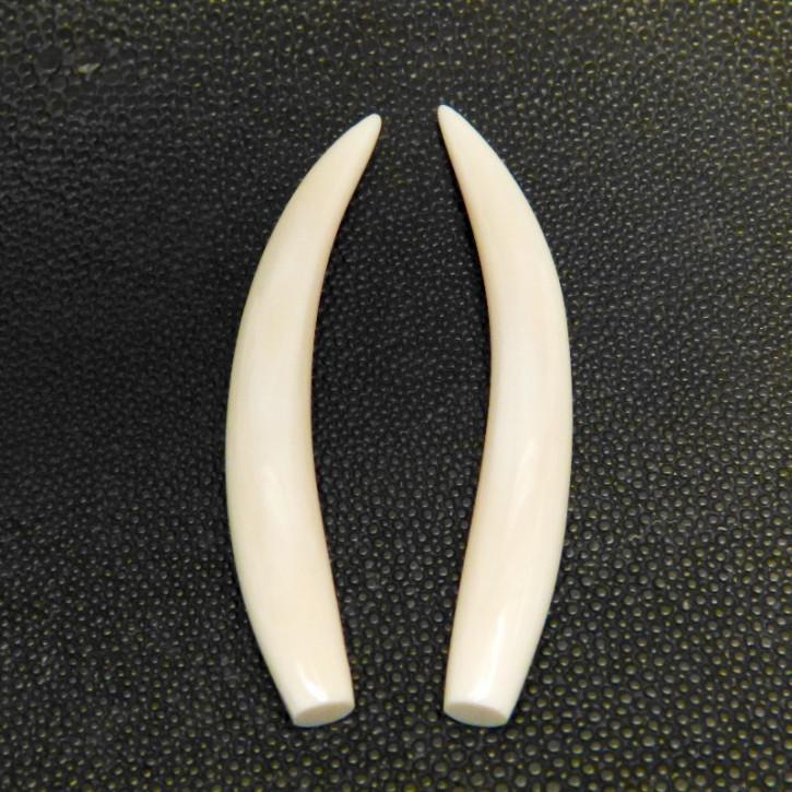 1 Paar Ersatzstoßzähne ca. 9 x 73mm