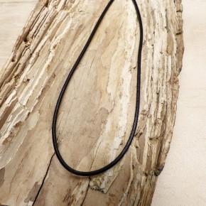 Lederband schwarz 3mm mit Verschluss in SILBER 925/-