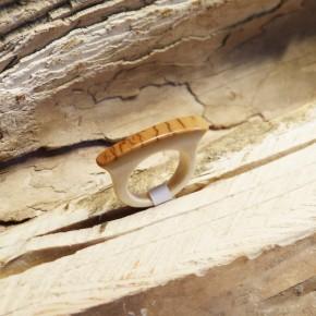 Ring Mammut-Elfenbein W15,9 bis 16,3