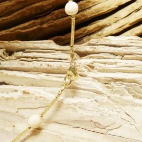 Stäbchen-Collier mit Mammut-Perlen