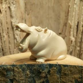 Flusspferd mit offenem Maul