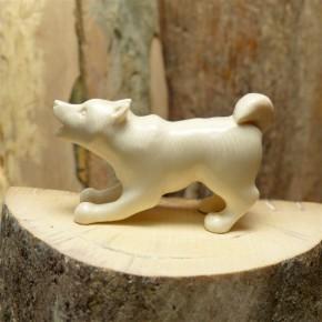 Husky aus Mammut-Elfenbein