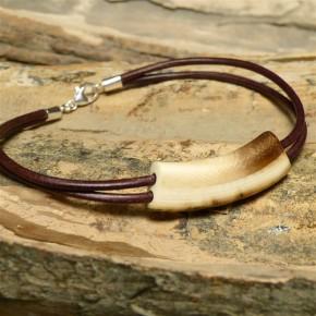 Mammut-Armband mit brauner Rinde