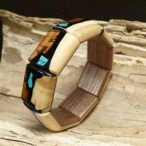 Mammut-Armband toll gefärbt mit Türkis