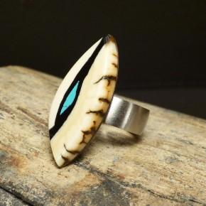 Mammut-Ring mit Türkis