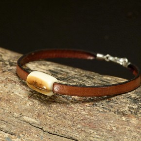 zartes Armband mit Mammutrinde