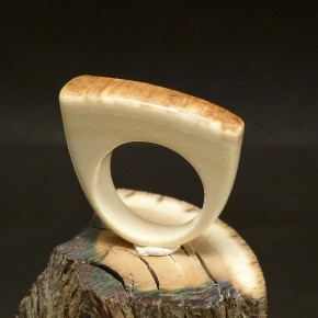 Mammut-Ring mit Rinde W 19