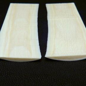 2 St. Platten mit gewölbter Oberfläche