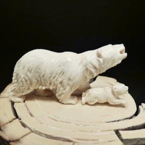 Eisbär mit Jungem