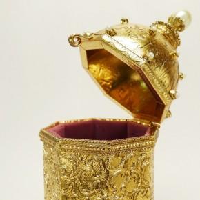 """Bronze-Spieldose"" Replik nach Fabergé"