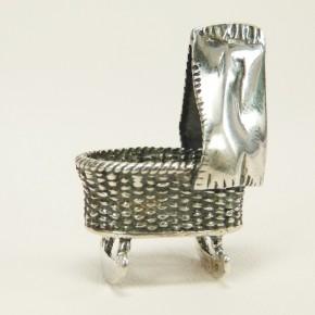 Babywiege Silber massiv