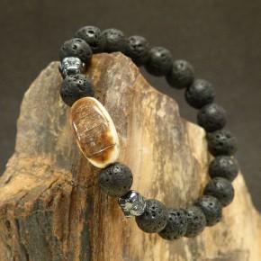 Armband Lava-Mammut-Hämatit