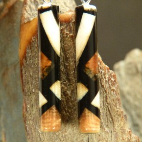 Stab-Ohrhänger Mammut-Elfenbein