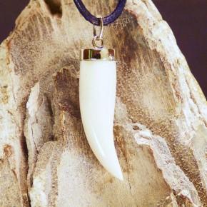 Zahnanhänger mit Rindenfärbung in Gold 333/-