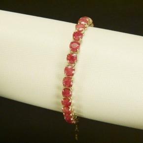 Silberarmband mit Rubinen