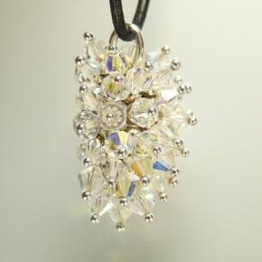 Silber-Anhänger mit Swarowski-Kristallen