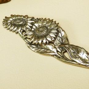 """Silberbrosche 925/- """"Sonnenblumen"""""""
