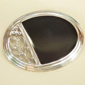 Silberbrosche 925/- oval