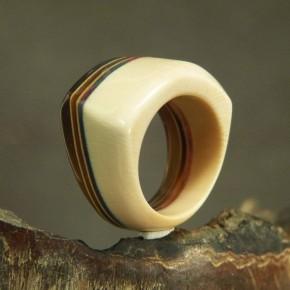 auffälliger Ring Mammut/Horn/Horn W19