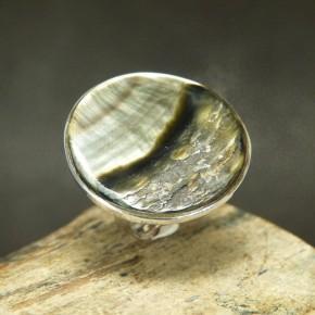 Silberring 925/- mit Perlmutteinlage