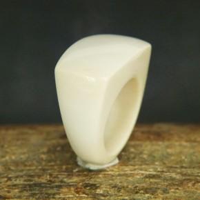 breiter Mammut-Ring mit schöner Maserung W17,5-19
