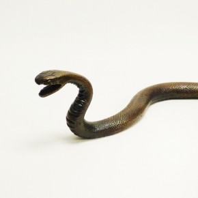 Bronzeschlange massiv