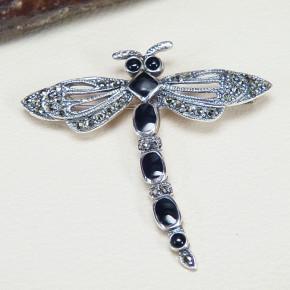 Libellen-Brosche im Art Deco Stil