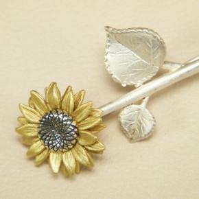 Brosche Sonnenblume 925/-