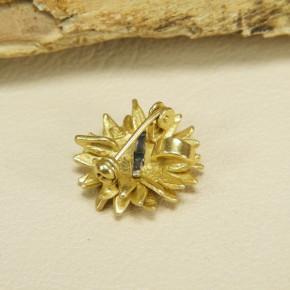 kleine Sonnenblume als Anhänger/Brosche 925/-