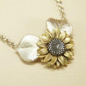 """Collier """"Sonnenblume"""" 925/-"""