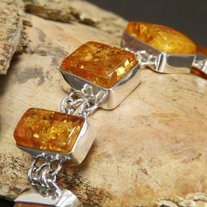 tolles Silberarmband mit Naturbernstein