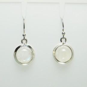 Hängeohrringe Silber mit Mondstein