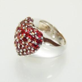 """""""Herz""""-Ring 925/- mit Granat W 17,2"""