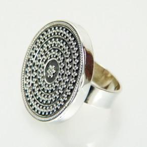 Silberring, teilgeschwärzt W 18,1