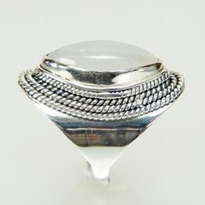Silberring mit Mondstein W 18,8