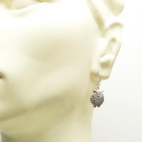 Eulen-Ohrhänger Silber