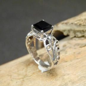Silberring mit schwarzem Onix