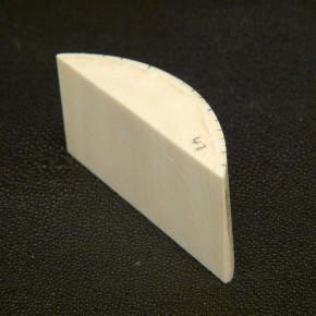 Abschnitt mit gewölbter Oberfläche ca. 31,5 x 66 x 17,5 mm