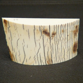 Schalstück mit gewölbter Oberfläche ca. 52-59 x 82 x 14mm