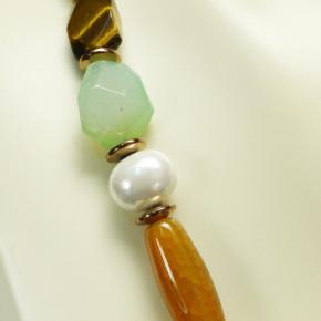 Multistein-Kette mit Perlen