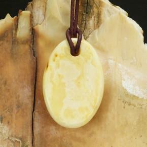 Naturbernstein-Anhänger milchig