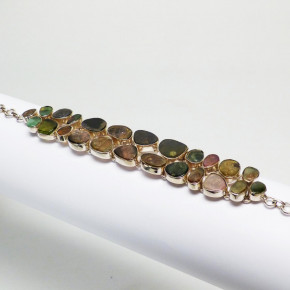 Silberarmband mit Turmalinen