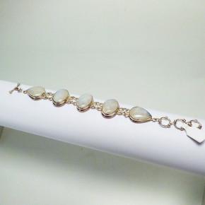 Silberarmband mit Mondsteinen