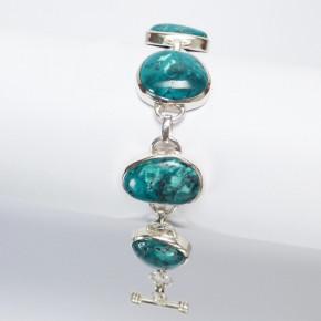 Silberarmband mit Türkis