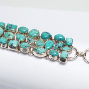 Silberarmband mit Türkisen