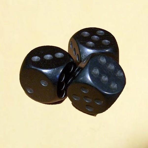 Ebenholzwürfel schwarz1