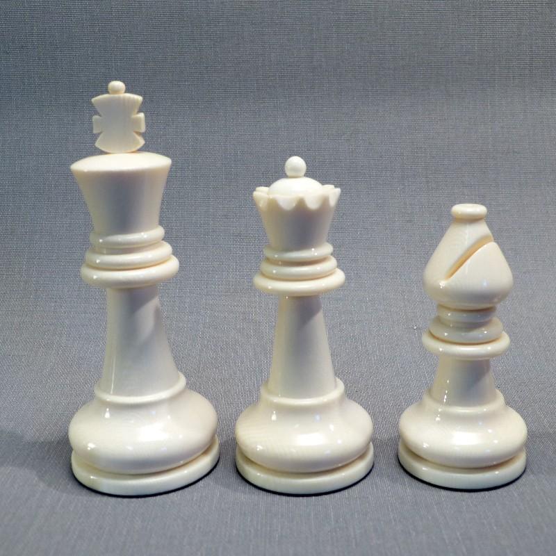König, Dame, Läufer Elfenbein Weiß