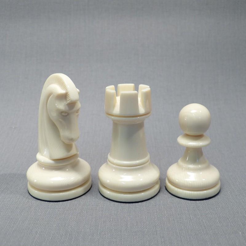 Springer, Turm, Bauer Elfenbein Weiß