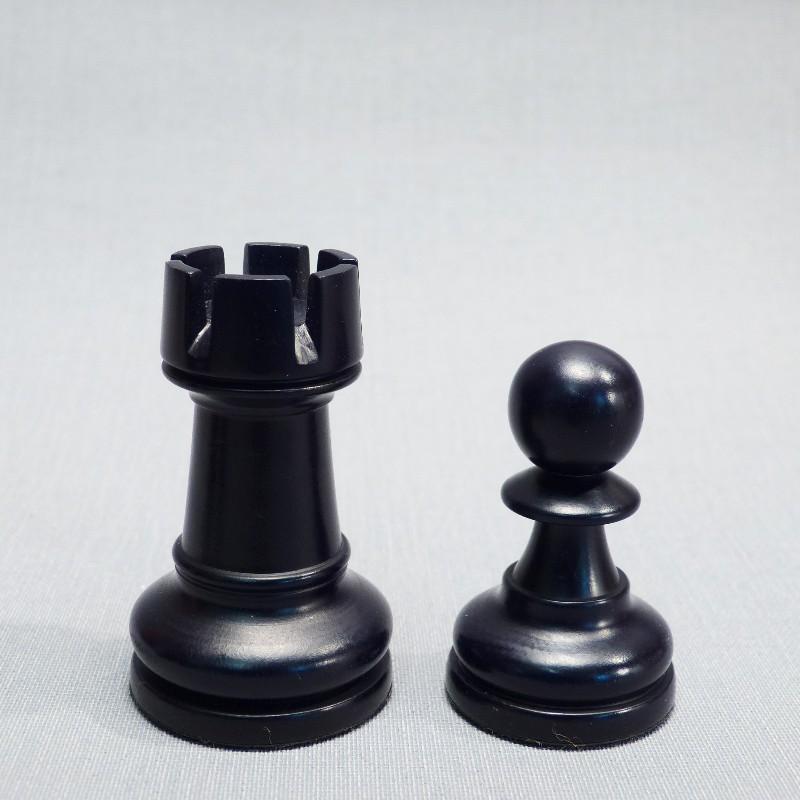 Turm Und Bauer Elfenbein Schwarz