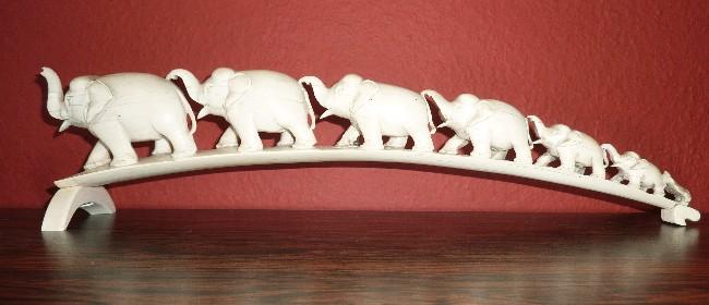 afrikanische Elefantenbrücke